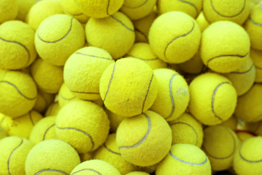 A picture of several of our tennis balls choices