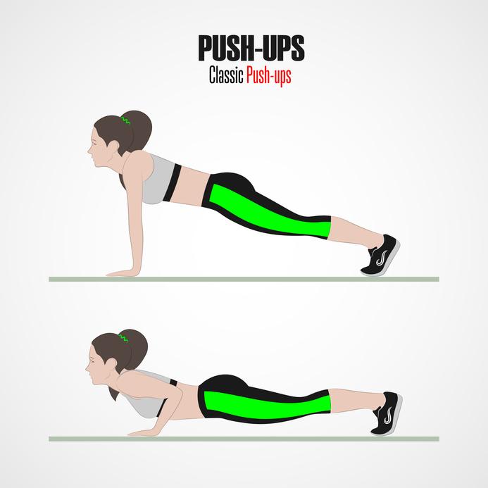 Diagram - how to do push ups
