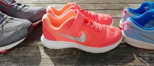 Family tennis shoes for Plantar Fasciitis in a row