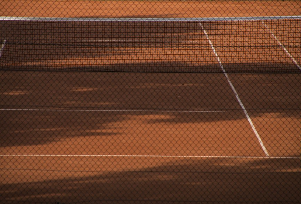 A homemade clay court