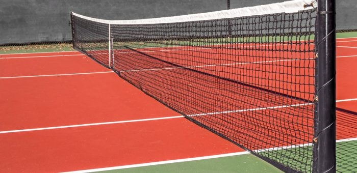 A personal tennis court