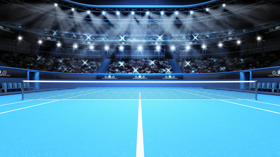 A tennis stadium