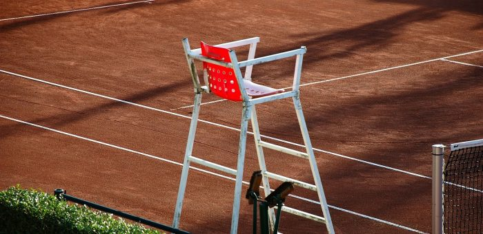 A tennis referees chair