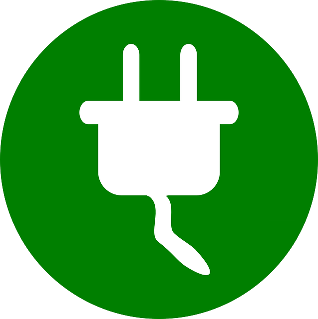 Illustration of a tennis ball machine plug